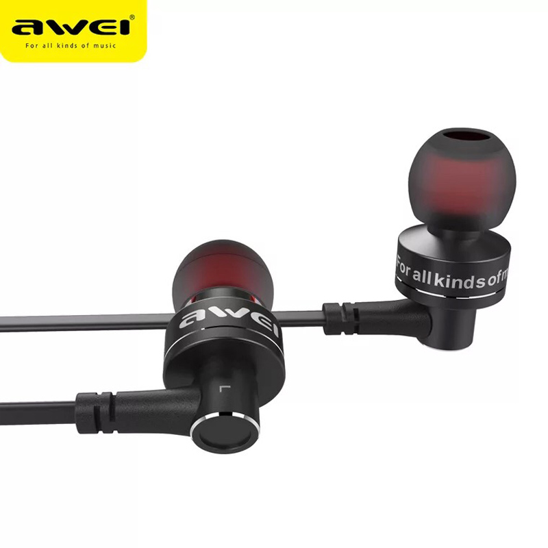 AWEI B990BL Magnetic Wireless Earphone Bluetooth Sport Mini Metal Dual Stereo with Microphone