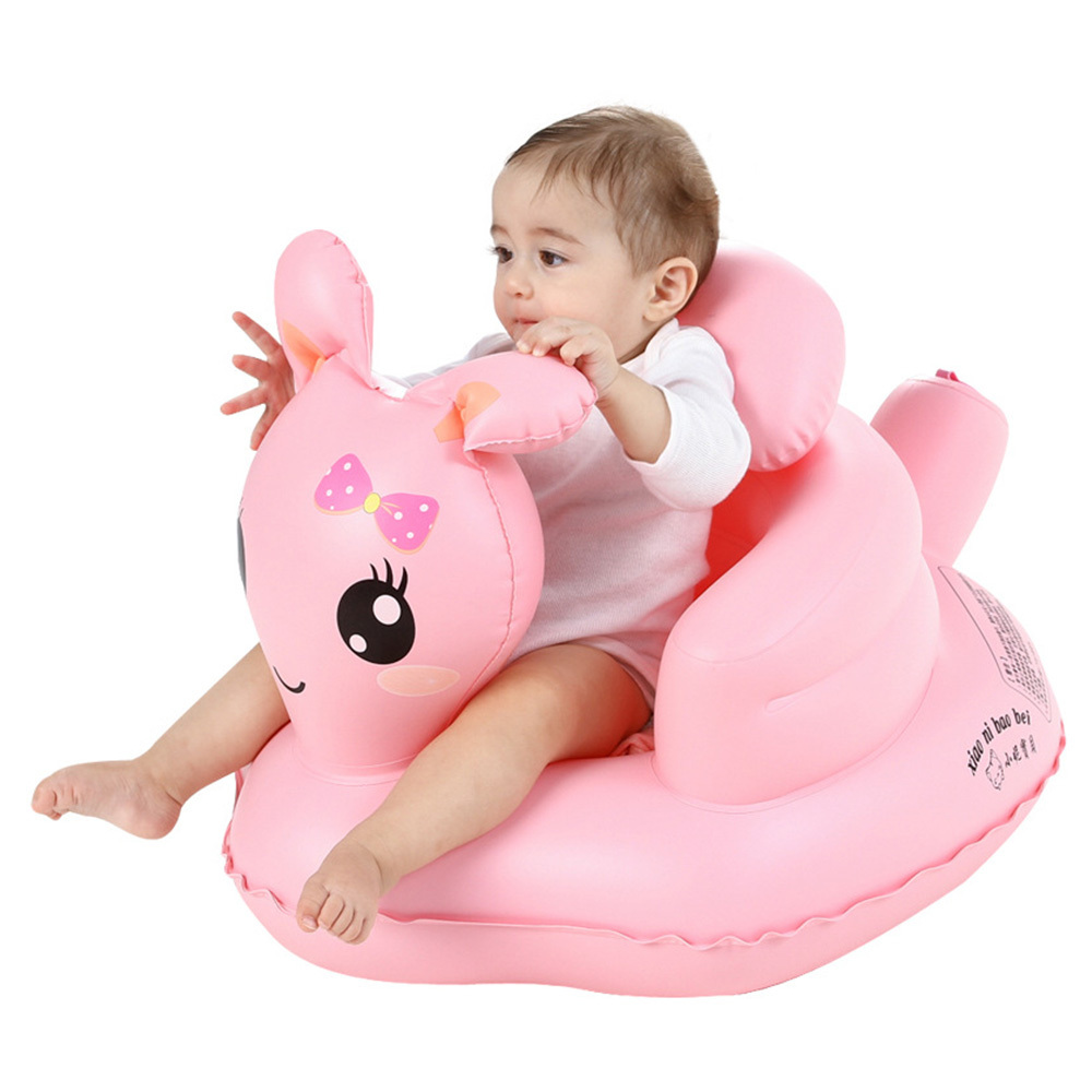Baby Inflatable Sofa Seat Multi-functional Seat BB Dinner Chair Portable Baby Bath Stool Learning Chair