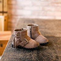 Autumn Winter Children Shoes New Korean Girls Tassels Casual Shoes Genuine Leather Fashion Retro Kids Martin
