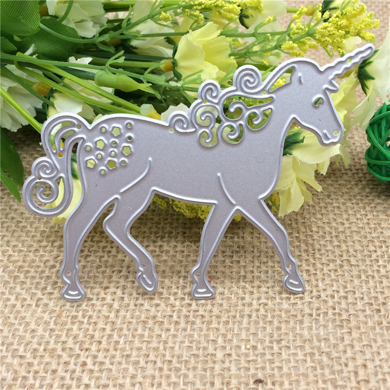 Unicorn Horse Metal Cutting Dies Stencil DIY Scrapbooking Card Paper Embossing Decorative Handmade Craft