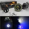 """2 Pçs/lote 12 V 30 W 64mm 2.5 """"projetor Carro LEVOU Nevoeiro Luz w/COB Auréola Anjo Anéis de Olho Brilhante Universal Auto Spot Light Head Lamp"""