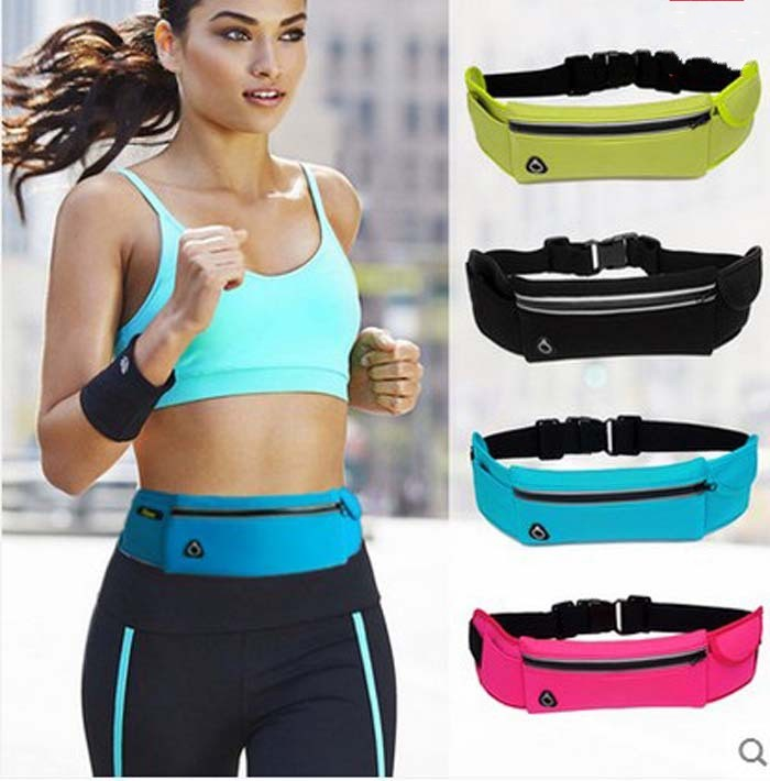 Gym Waist Bag Waterproof Sport Outdoor Fashion Belt Universal Phone Case Pouch For Samsung S6 7 edge S8 Plus J1 3 5 A3 5 2016