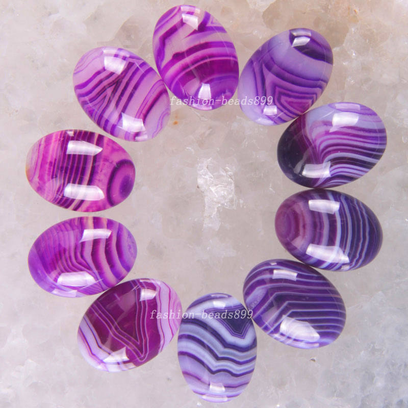 Free Shipping Fashion Jewelry 13x18MM Natural Purple Veins Onyx CAB Cabochon 10Pcs K1618