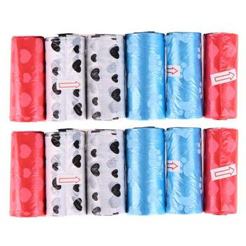 12 Rolls Printed Dog Poop Bag Pet Garbage Bags Dogs Waste Pick Up Clean Bag for Dogs Cats Outdoor Litter Storage Bag Pet Product