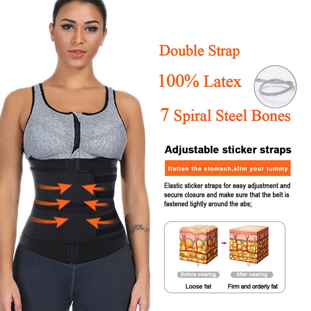 HEXIN двойной пояс 100% Латекс Талии Тренажер тела женские штаны талии тренажер молнии Корректирующее белье для похудения Пояс Fajas коломбианас