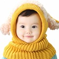 Baby hat Toddler Kids Girls Boy Hats Coif Hood Kintted Woolen Scarves Caps Winter Warm Cap baby lamb fur hats adorable red pink