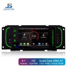 JDASTON Android 9.1 lecteur DVD de voiture pour Chrysler PT Cruiser 300 M Jeep Grand Cherokee Wrangler liberté Dodge Dakota Ram pick-up