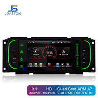 JDASTON Android 9.1 Car multimedia For Chrysler PT Cruiser 300M Jeep Grand Cherokee Wrangler Liberty Dodge Dakota Ram pick up