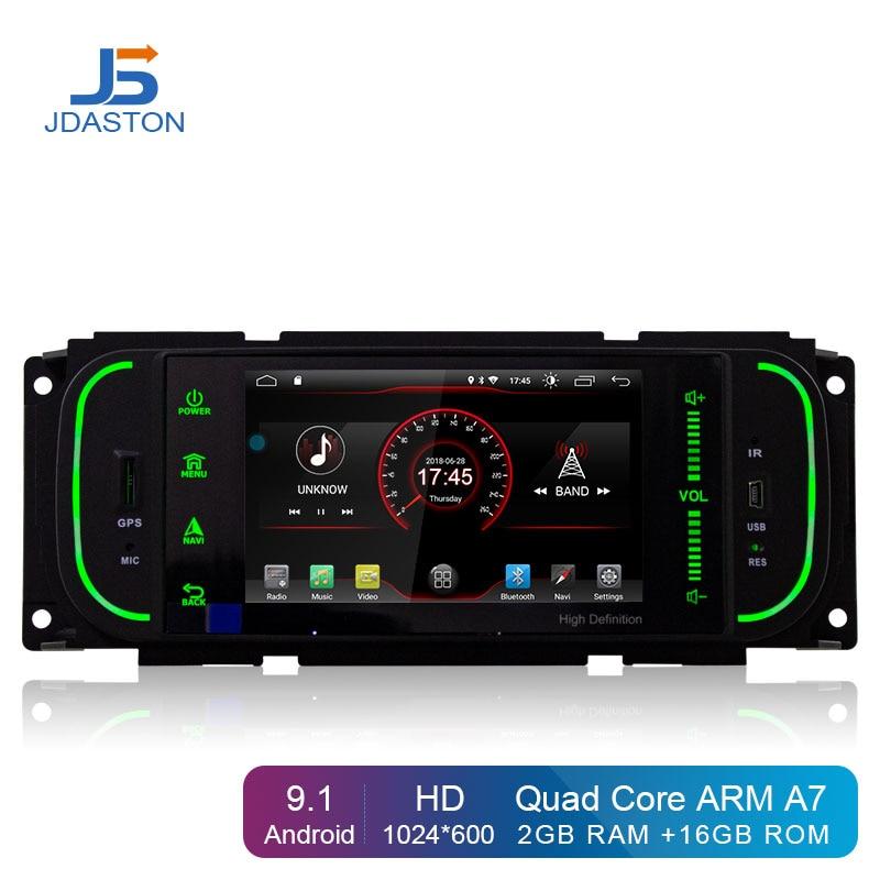 JDASTON Android 9.1 multimídia de Carro Para Chrysler PT Cruiser 300 M Jeep Grand Cherokee Wrangler Liberdade Dodge Dakota Ram pick -up
