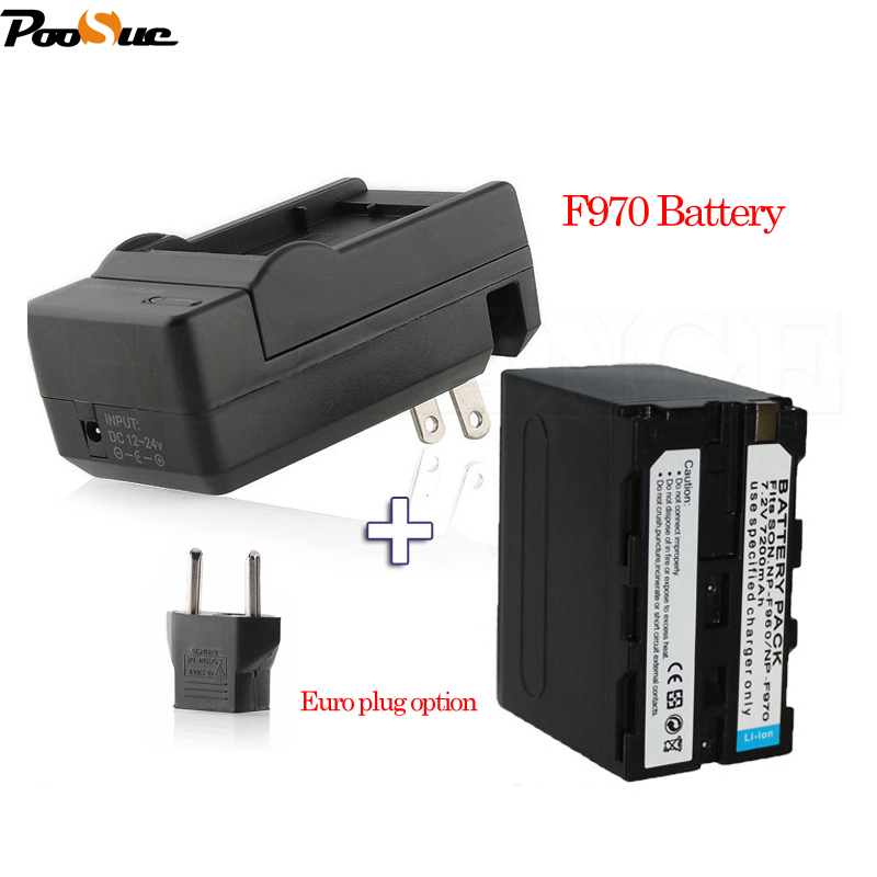 7200mAh NP-F970 Battery NP F970 F960 NP-F960 +Charger For SONY PLM-100 CCD-TRV35 MVC-FD91 for MC1500C 190P durapro 4pcs np f960 np f970 battery lcd ultra quick charger for sony hvr hd1000 v1j v1j ccd trv26e dcr tr8000 plm a55 hvr v1u