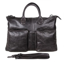7241J JMD Genuine Leather Handbags Laptops Business Bag Portfolio