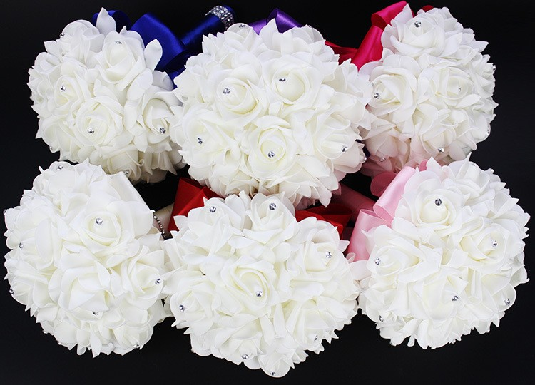 2016-Artificial-White-Royal-Blue-Rose-Flowers-Bridal-Bouquet-With-Rhinestone-Crystal-Bouquets-For-Weddings-Wedding (3)