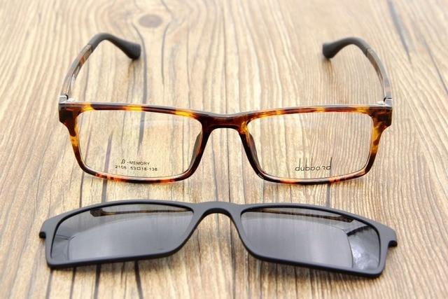 5e9fd4a033 Ultem Ultra Light Myopia Eyeglasses Frame Polarized Magnetic Clip On Sunglasses  Driving Clip Glasses Magnet Sports MutiFunction