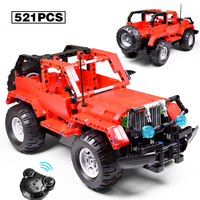521pcs Building Blocks Technic Series Blocks Compatible LegoINGly The Ultimate All Terrain Off Road Climbing Trucks Model Block