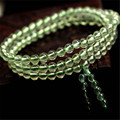 5.5mm Natural Quartzo Verde Pulseiras Para As Mulheres Femme Charme 108 De Cristal Redondo Beads DIY Pulseira Presente de Natal