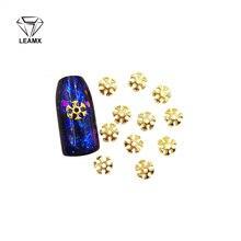 50 штук пакет ногтевая декоративная наклейка 3d Золото/Серебро
