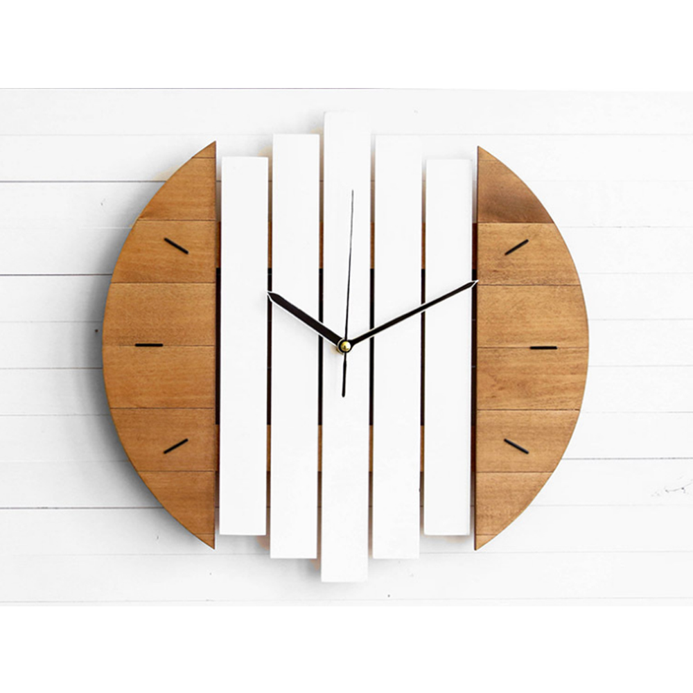 Slient Xylophone Wooden Wall Clock Modern Design Vintage Rustic Shabby Clock Quiet Art Watch Home Decoration