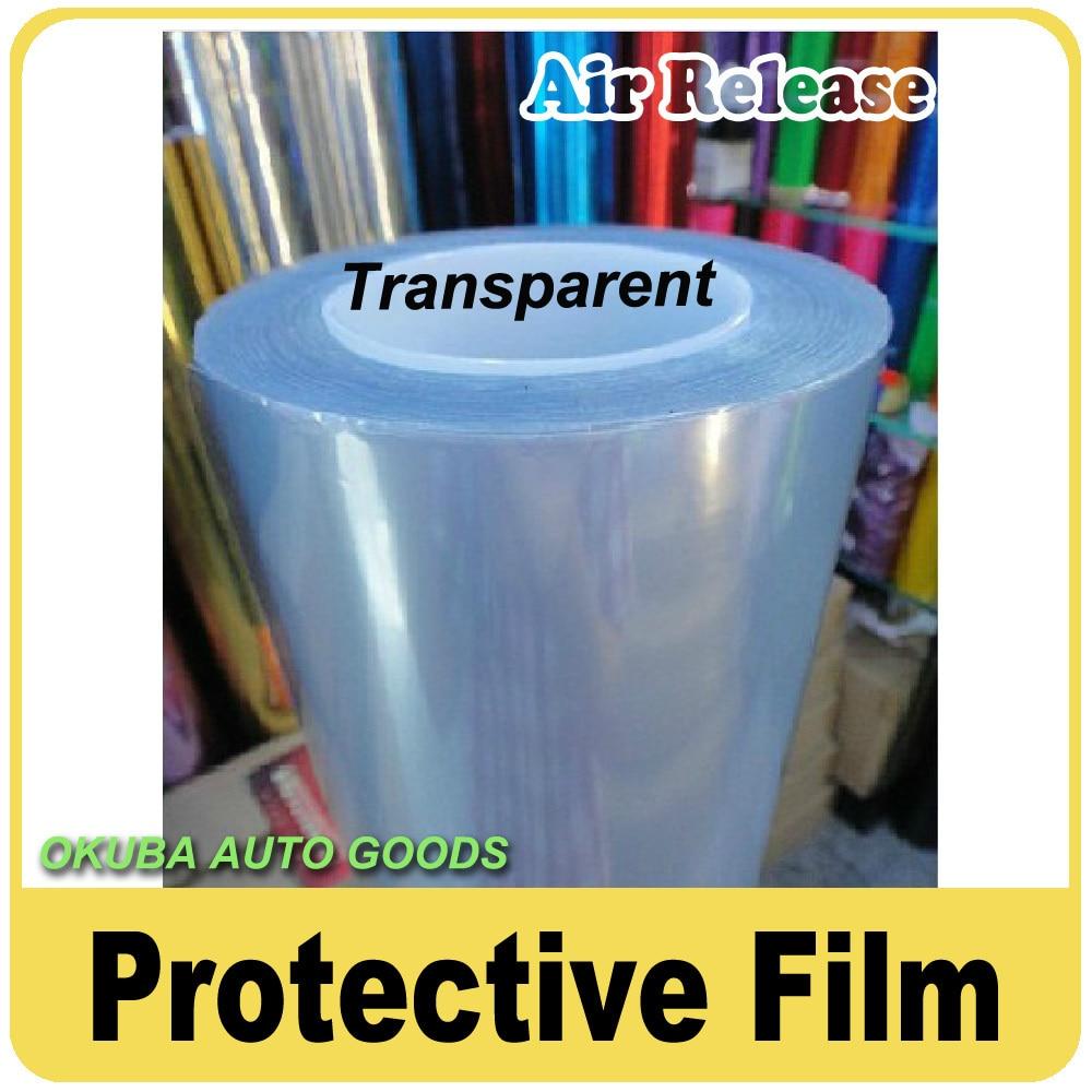 Fedex Livraison gratuite Transparent De Protection Film Autocollant De Voiture Pour Voiture Wrap Film 1.52*15 m/roll Avec Air libération