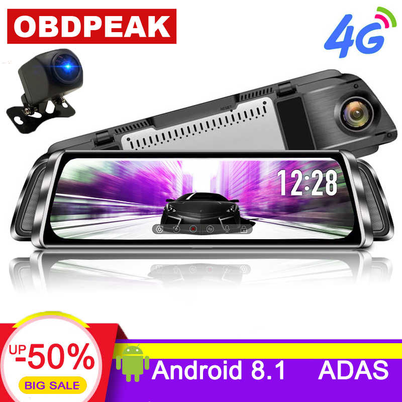 "10"" Stream Media android mirror Car Rearview Mirror Dash Cam FHD 1080P Super night vision Touch DVR Camera with ADAS GPS NAVI"