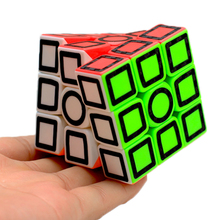 Z-Cube 3x3x3 Magic Cube Stickerless With Black Carton Fibre Sticker Speed Puzzle Cube Kids Educational Toys For Children Gift lefun shengshou 10layer cube puzzle speed cube 10 2cm pvc stickers ten layers black educational toys for children kids