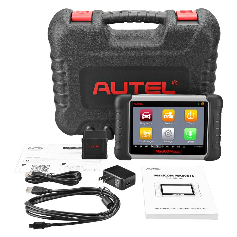 Image 5 - Original Autel Maxicom MK808TS Professional Automotive Diagnostic Tool TPMS Relearn Reset Programming Car Scanner Auto Scan Tool-in Engine Analyzer from Automobiles & Motorcycles on