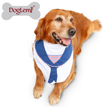 Anchor Stripes Sailing Dog Scarf Clothes Pet Bandana for large breed dogs