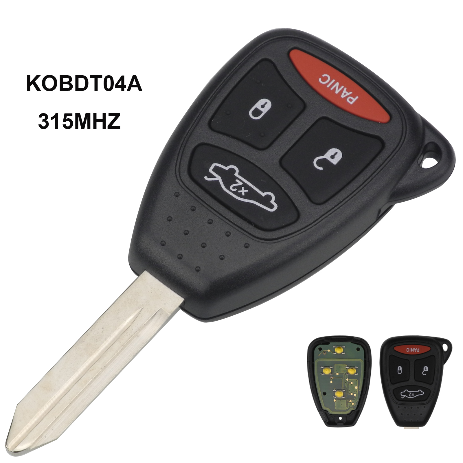 maizhi KOBDT04A 315mhz 4 BTNS Remote Head Car Key for dodge chrysler jeep Dakota Durango Charger 300 Aspen Grand CStyling