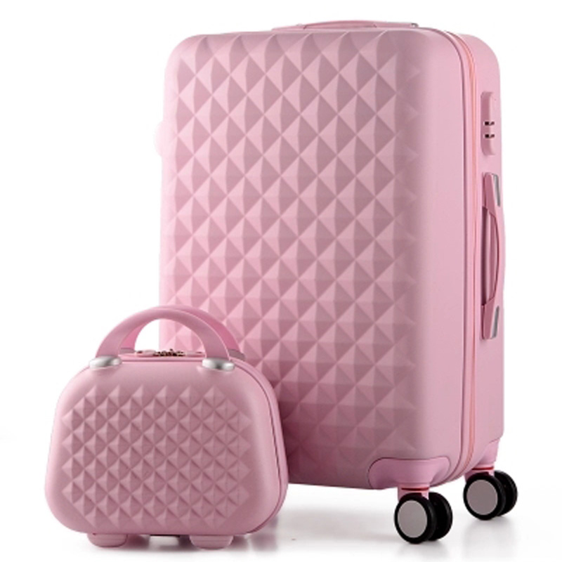 14 + 20 Inch, Vrouw Reistas Koffers, diamant Bagage Reistas, ABS Reisbagage, Rollende Bagage, Koffer op Wielen