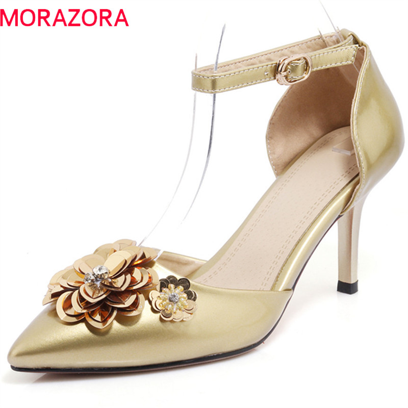 MORAZORA 2018 new arrive women pumps fashion pointed toe summer shoes big size 33-42 elegant thin heels comfortable ladies shoes summer bling thin heels pumps pointed toe fashion sexy high heels boots 2016 new big size 41 42 43 pumps 20161217