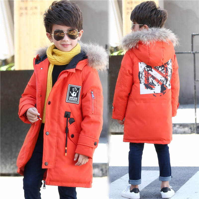 Boys Winter Coat Hooded Thickening Warm Children Outerwear Parkas for Teens Boys Kids Down Jacket Windproof Casual 2017 teens girl boys winter outwear coat hooded jacket children duck down jacket boy clothes kids patchwork down parkas 3 12 yrs