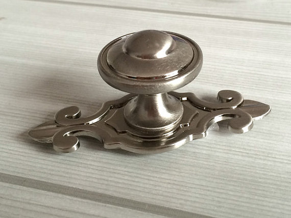 Drawer Knobs Dresser Knob Pulls Handles Brushed Steel Nickel Kitchen Cabinet Knobs Vintage Furniture Pull