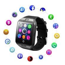 Relógio inteligente Q18 Smartwatch Chamada 2 Relogio g GSM SIM Câmera Cartão TF Bluetooth para Telefone Android Pedômetro facebook PK DZ09 Y1 V8