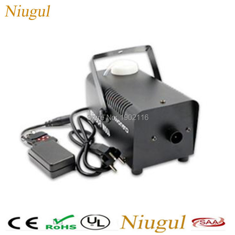 Niugul mini 400W Wireless remote control fog machine pump dj disco smoke machine party wedding Xmas stage fogger haze machine