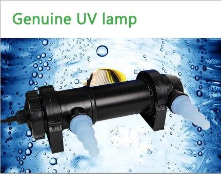 Lampe germicide enlèvement d'algues Aquarium UV stérilisateur 5-36 W lampe de lumière clarificateur étang poissons récif corail réservoir lampe de stérilisation