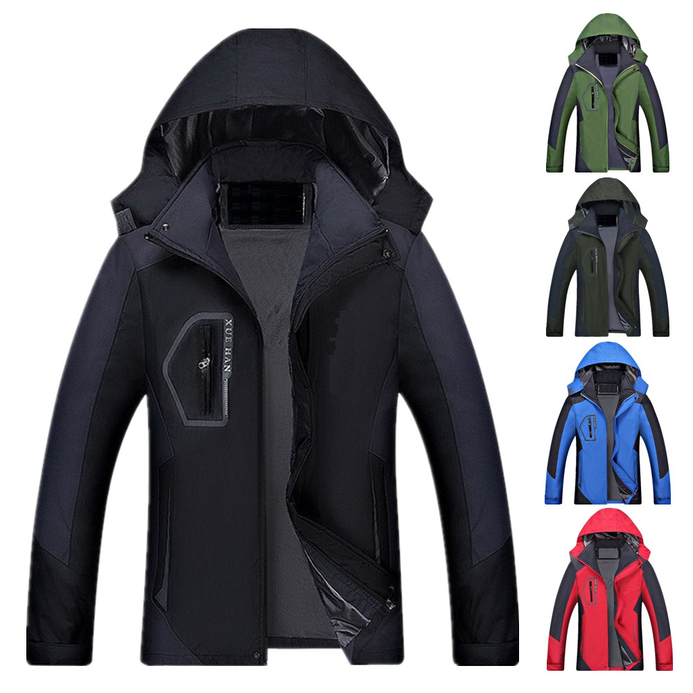 Zogaa 2019solid Waterproof Jacket Hooded Zipper Clothing Mountaineering Outdoor Sports Wind Speed Dry Rain Jacket Colors 4colors