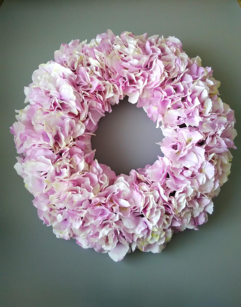 Wedding Decoration Dream Pink Wreaths Front Door Hydrangea Garland 16  Inches Party Birthday Table Centerpieces Flowers In Wreaths U0026 Garlands From  Home ...
