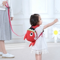 Animal Design Baby Anti Lost Walking Learning Strap Harnesses Cartoon Shark Harness Toddler Strap Walking Bag Safety Wristbands