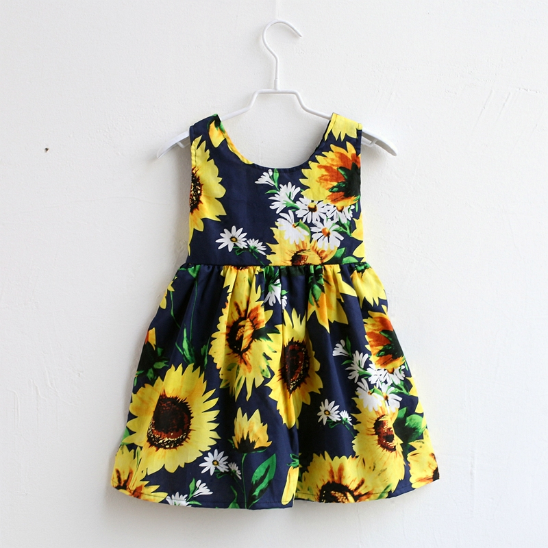 Summer children sunflower print sleeveless cotton family clothes kids infant girls beach dress mother daughter matching dresses summer children clothing family clothes kids infant girls women opulent rose print dress matching mother daughter fashion dress