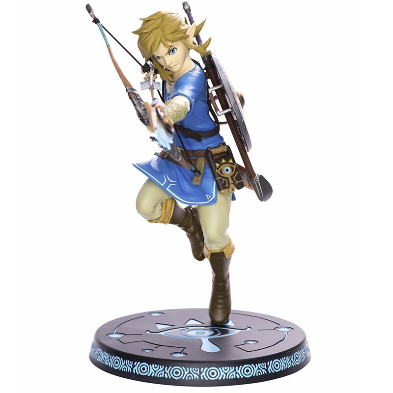 Anime The Legend of Zelda Action Figure Link Fighting Ver. Link Doll PVC Figure Collectible Model Toy 30cm KT3647 anime the legend of zelda 2 a link between worlds link figma 284 pvc action figure collectible model kids toys doll 10 5cm