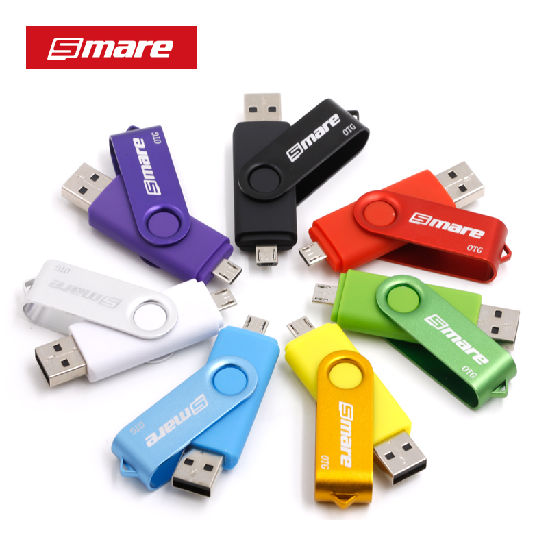 Smare XC OTG USB Flash Drive 128 GB 64GB 32 GB 16 GB Գրիչ Drive Smartphone Գրիչ Drive USB 2.0 Flash Drive խելացի հեռախոսի համար