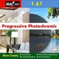 1.67 Progressive Photochromic Lenses UV Protection CR-39 Resin Prescription Lenses Myopia Presbyopia Lens Free Shipping