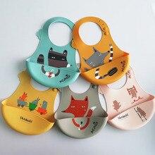 MrY детский силиконовый слюнявчик для еды, водонепроницаемый, миска для риса, детское мягкое одноразовое полотенце для новорожденных