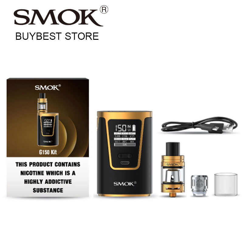 Authentic SMOK G150 Starter Kit with 150W Box Mod Built-in 4200mAh Battery & 2ml TFV8 Baby Tank EU Edition vs Smok Alien/G-priv original 218w smoant charon vv box mod e cig vape powered by dual 18650 battery fit 510 thread atomizer tank vs g priv mod