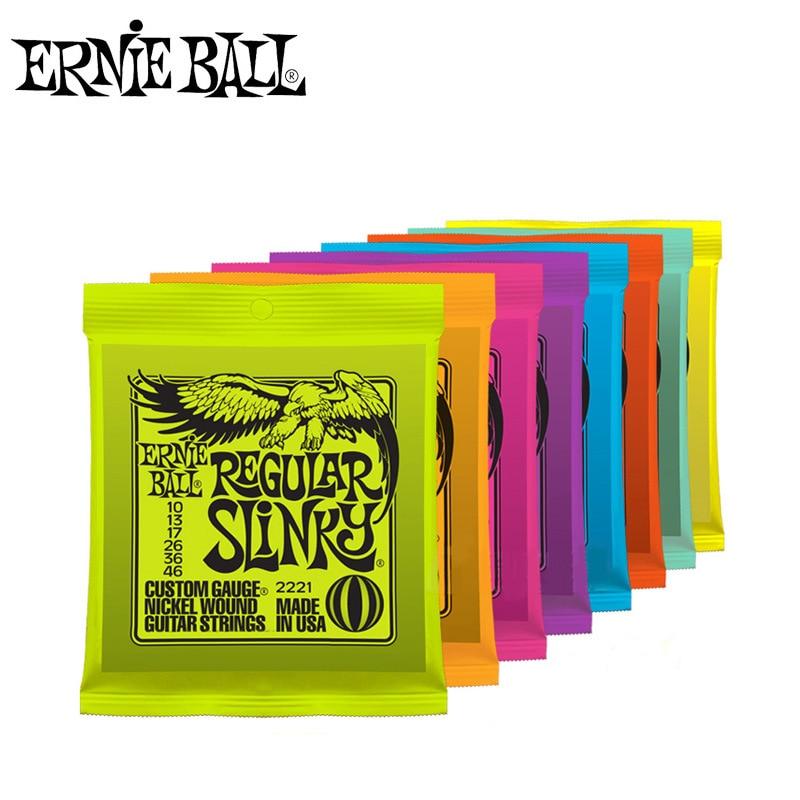 Ernie Ball cuerdas de guitarra eléctrica jugar Real de Rock Heavy Metal 2215, 2220, 2221, 2222, 2223, 2225, 2626, 2627 piezas de instrumentos musicales.