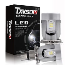 Txvso8 H4 LED 100W Headlight Kit Bulbs Replace  HID  Lamp 6000k CSP Car led Headlight Lamp H4 Hi Lo Beam DC12V 24V 110w set 9200lm car led headlight truck head lamp conversion kit 9005 hb3 6000k white bulbs single beam replace halogen hid kit