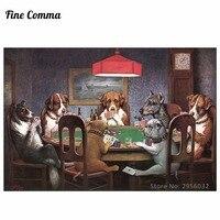 Ein freund in not hunde playing poker by cassius marcellus coolidge handgemalte ölgemälde replik wandkunst leinwand