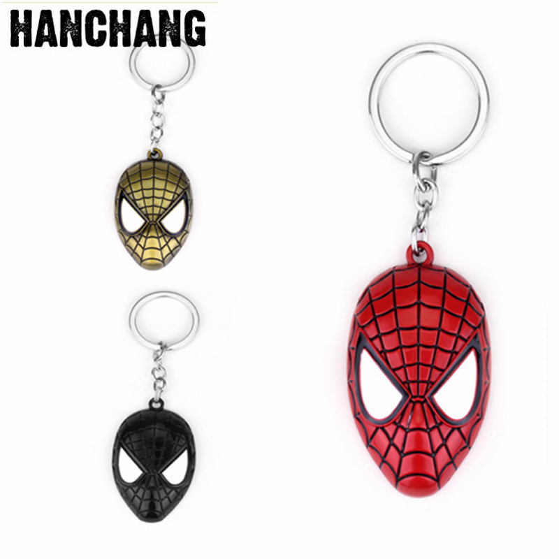 Key Chains New Hip Hop Spiderman Venom Keychain Pendant For Men And Women Superhero Keyring Jewelry Movies Fan Gifts Souvenirs Fashionable Patterns Jewelry & Accessories