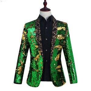Image 5 - Nowe męskie ubrania płaszcz na co dzień Hip hop Blazer mężczyźni Slim dopasowana sukienka biegaczy Blazers garnitury Streetwear kostiumy sceniczne dla piosenkarki męskie