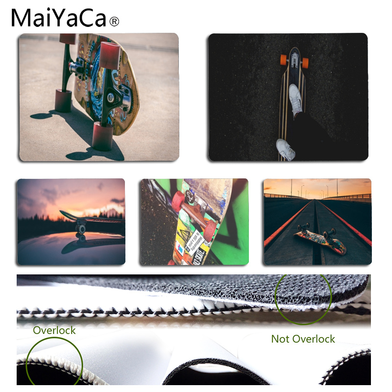 MaiYaCa Skateboard Road DIY Design Pattern Game mousepad Size for 25x29CM Speed Version Gaming Mousepads