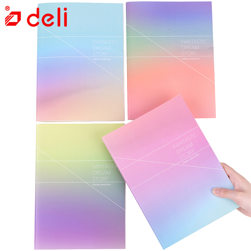 Deli 1pc/2pcs/4pcs random color send daily notebook fashion notepad student stationery notebooks 60Sheets school office supplies funny blades style small plastic spinning tops random color 4 pcs